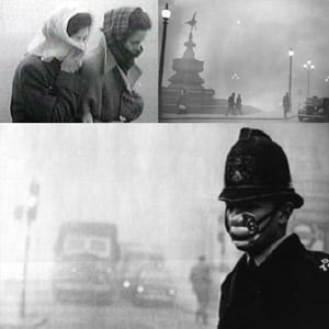 Photo Collage of The Great Smog